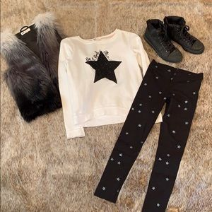 H & M girls complete star outfit
